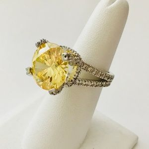 Jewelry - Canary CZ Stone Solitaire Ring Size 7